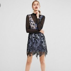 Self Portrait layered lace mini dress